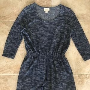 Ann Taylor Loft Women Blue Casual Dress Beach Play